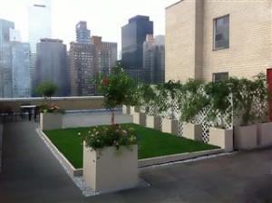 Green Roof Fiberglass Planters
